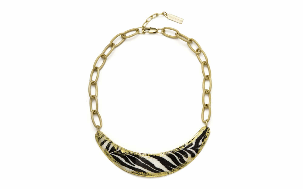 Zebra Boomer Necklace
