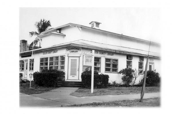 The Old Naples Building in its interation as The CollierCounty Free Public Library.