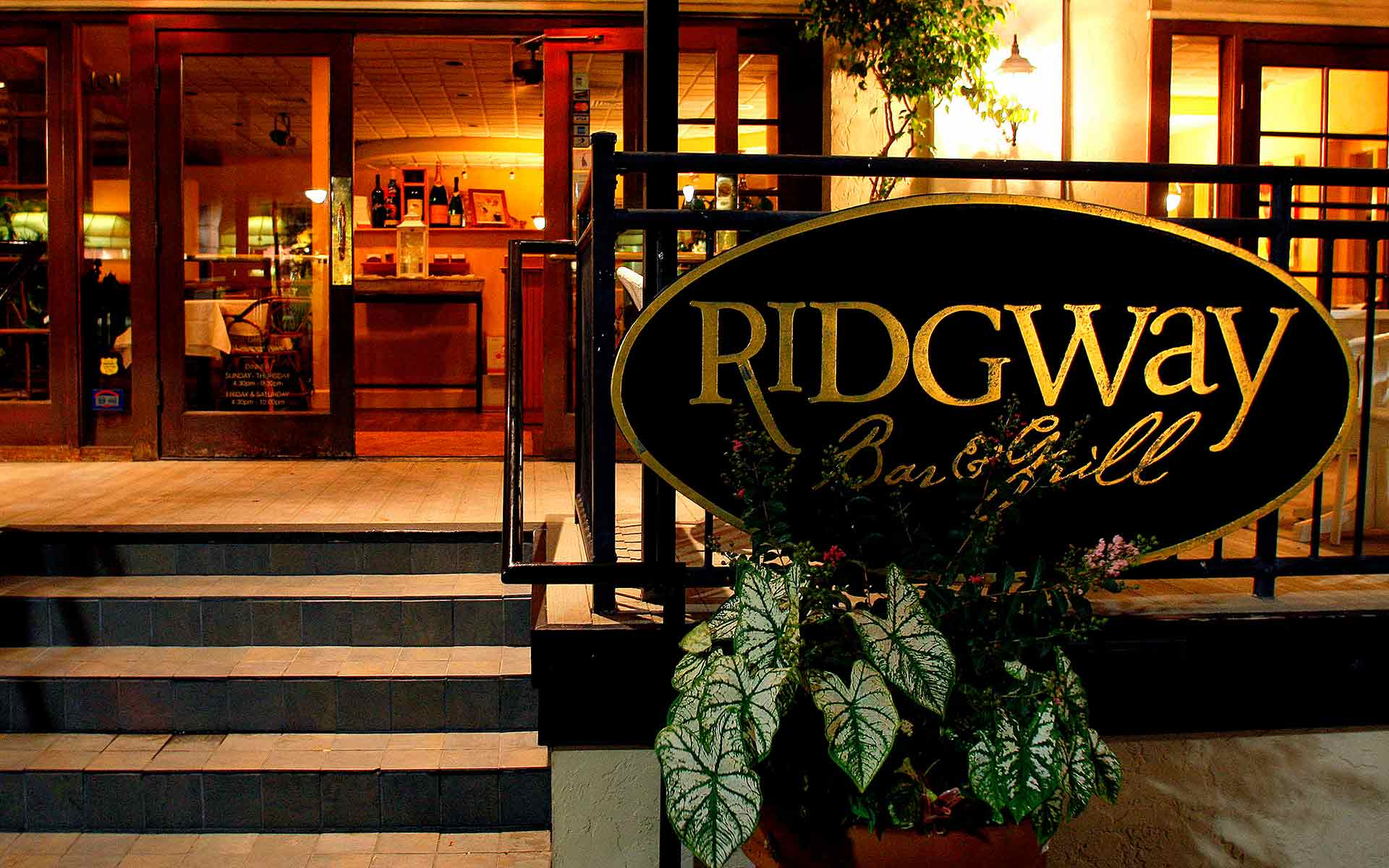 Ridgway Bar & Grill exterior and sign