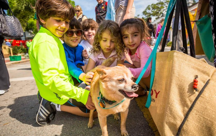 Pets on Third - children and dog
