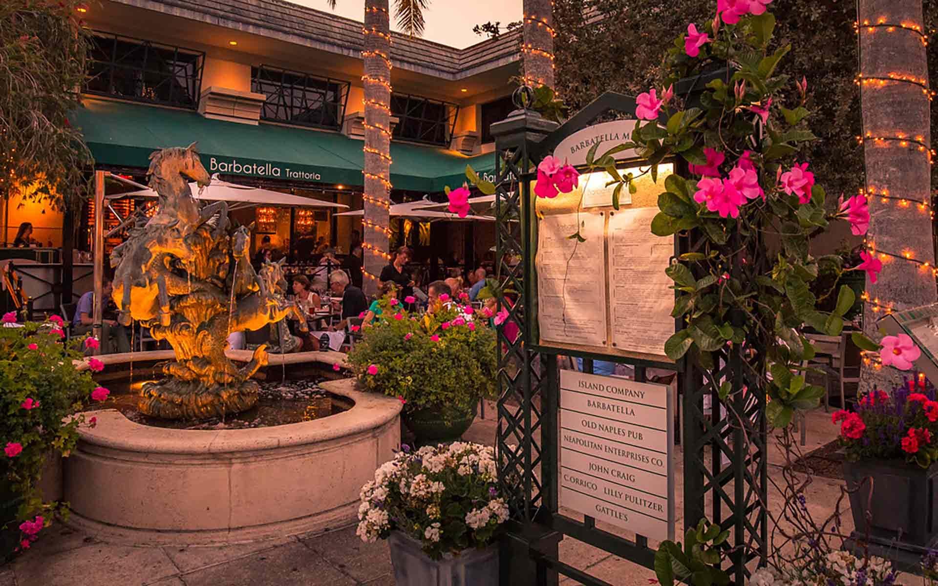 Barbatella Courtyard Evening