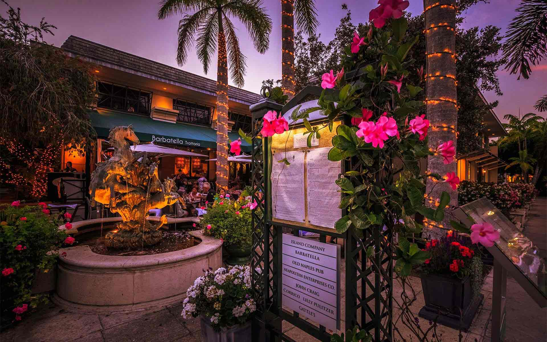 Barbatella Fountain Courtyard