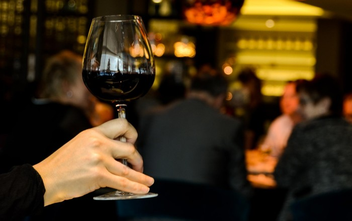 Person Holding Glass of Red Wine
