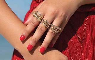 Marissa Collections - Spinelli diamond and gold rings